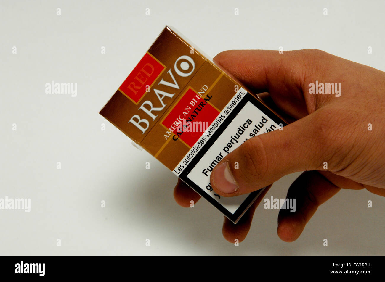 Red Bravo American Blend Capa Natural Cigarettes Stock Photo