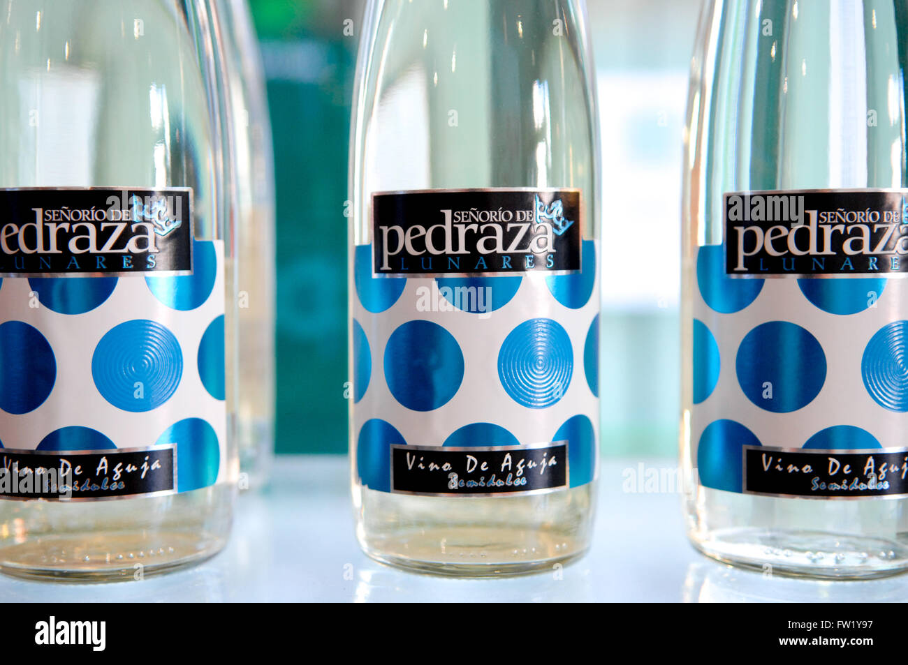 Pedraza is a wine brand from Spain Andalucia with a sweet flavour  from lunares' winery - Stock Image