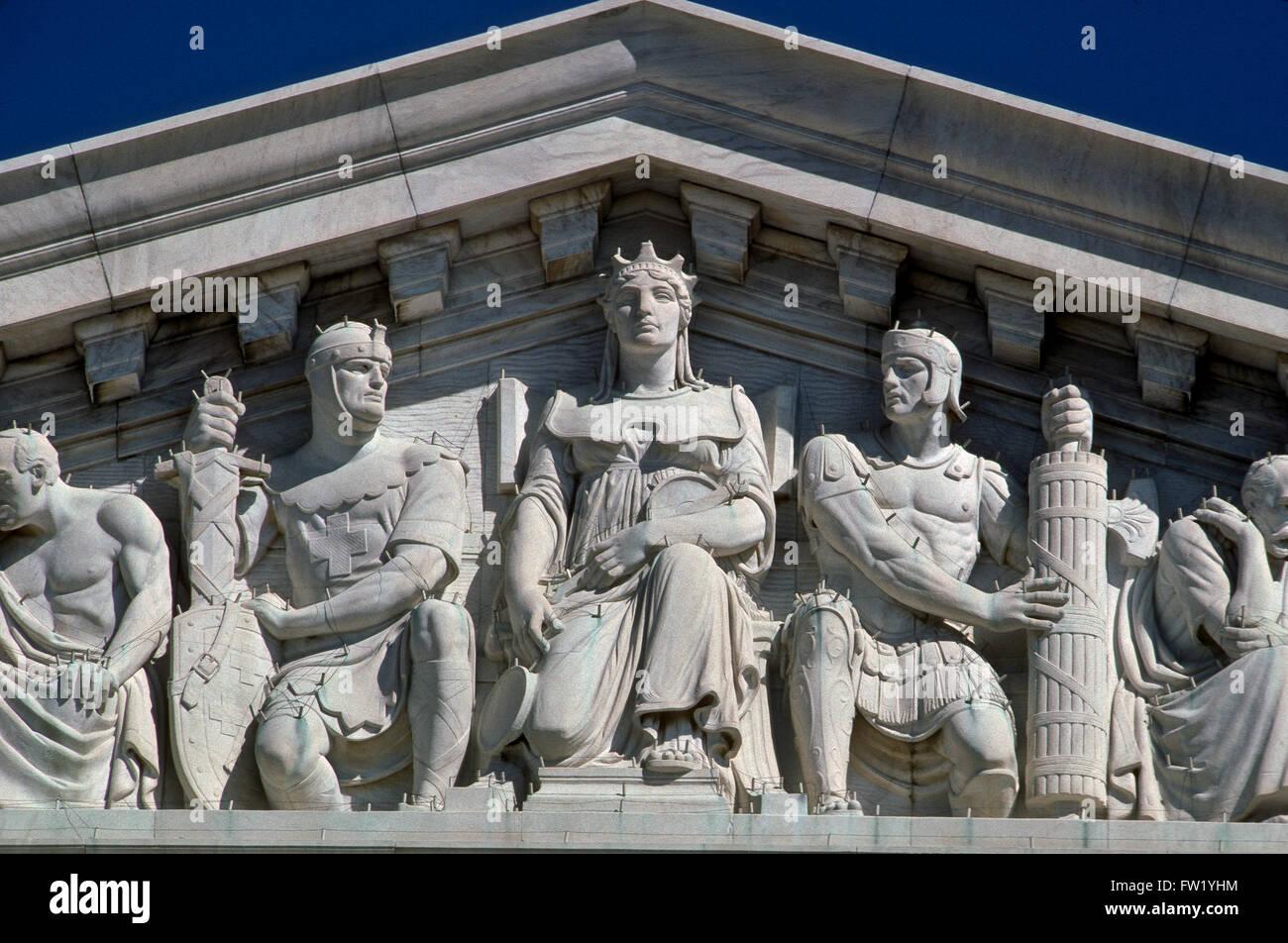 Washington, DC., USA, The United States Supreme Court House  Credit: Mark Reinstein - Stock Image