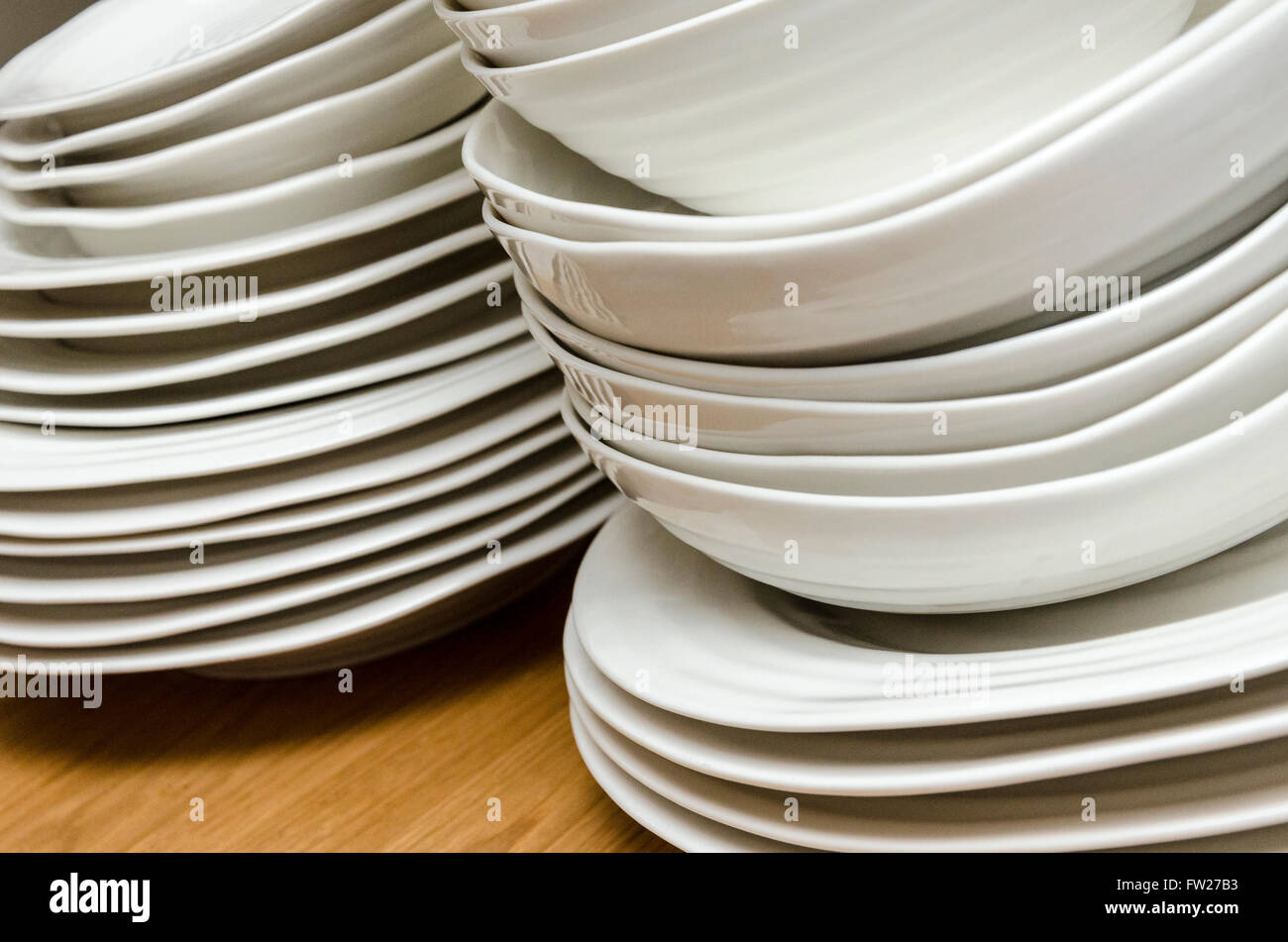 Sophie Conran For Portmeirion crockery or a wooden table - Stock Image