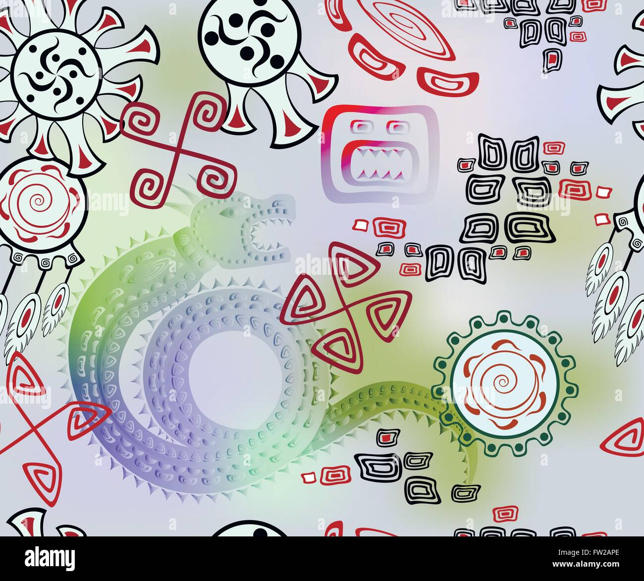 Vector Mayan Inca Tribal Symbols Stock Photos Vector Mayan Inca