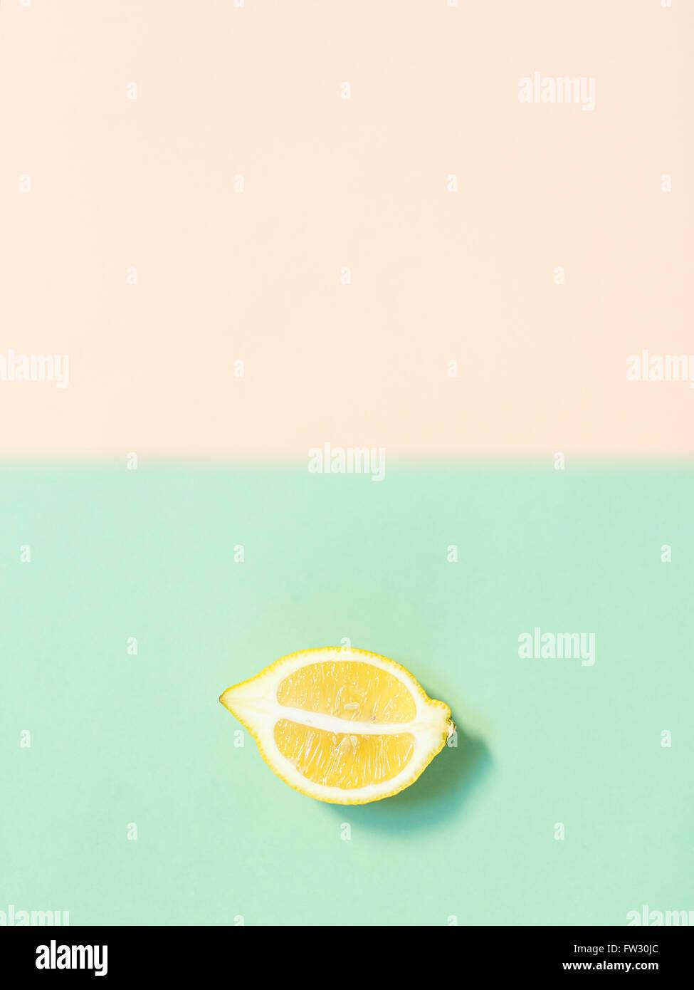 Chopped lemon - Stock Image