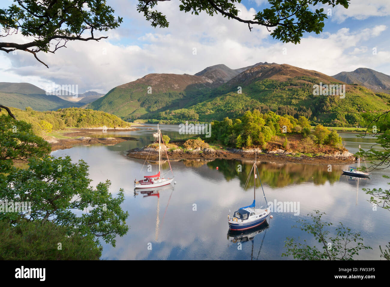 Loch Leven, Bishop's Bay, Scottish Highlands, Scotland, United Kingdom - Stock Image