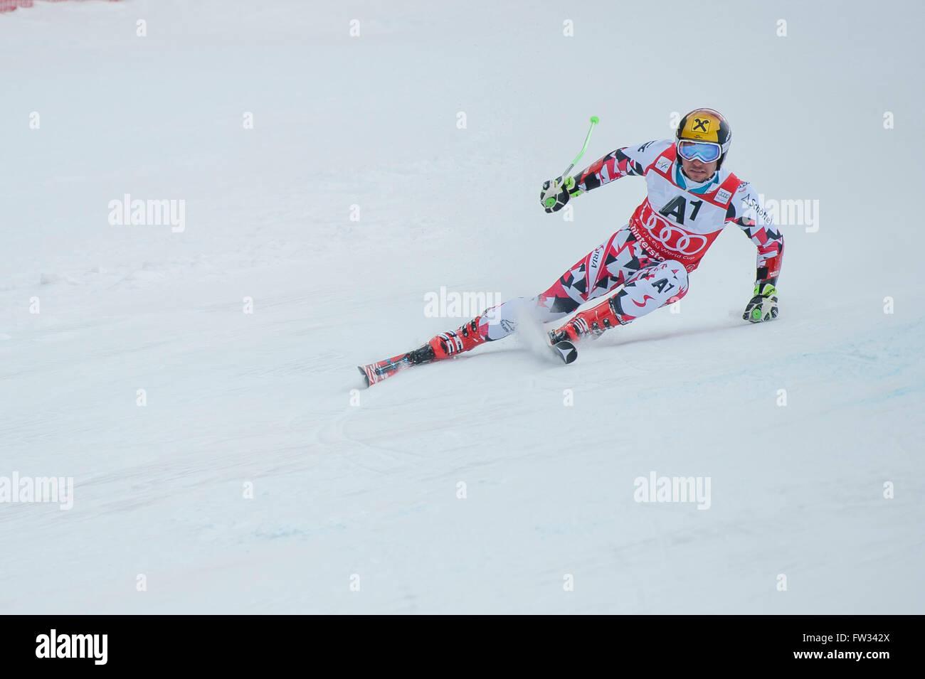 Marcel Hirscher, Austria, Giant slalom, Ski World Cup, Hinterstoder, Upper Austria, Austria - Stock Image
