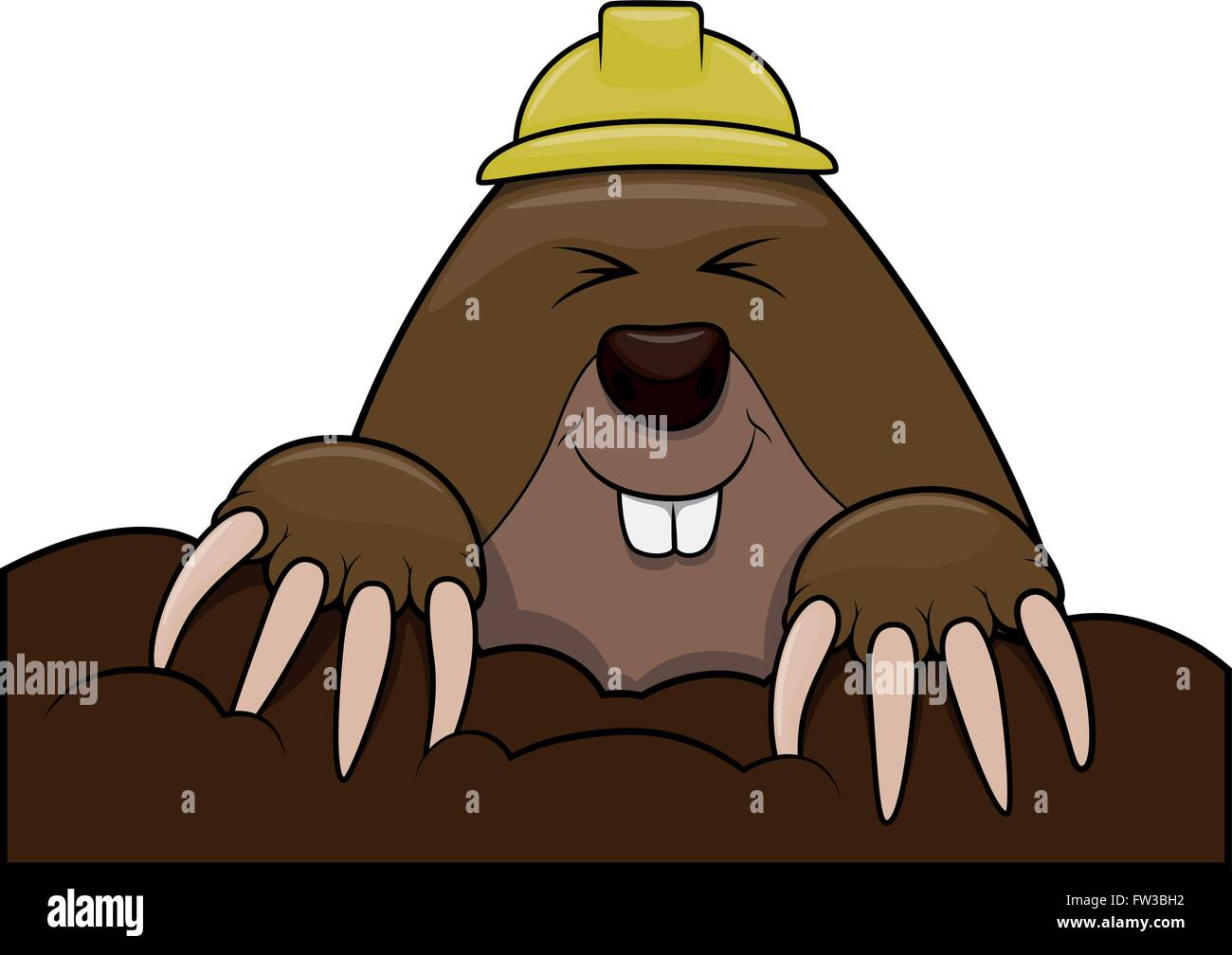 mole cartoon stock vector art illustration vector image rh alamy com Whack a Mole Cartoon Whack a Mole Cartoon