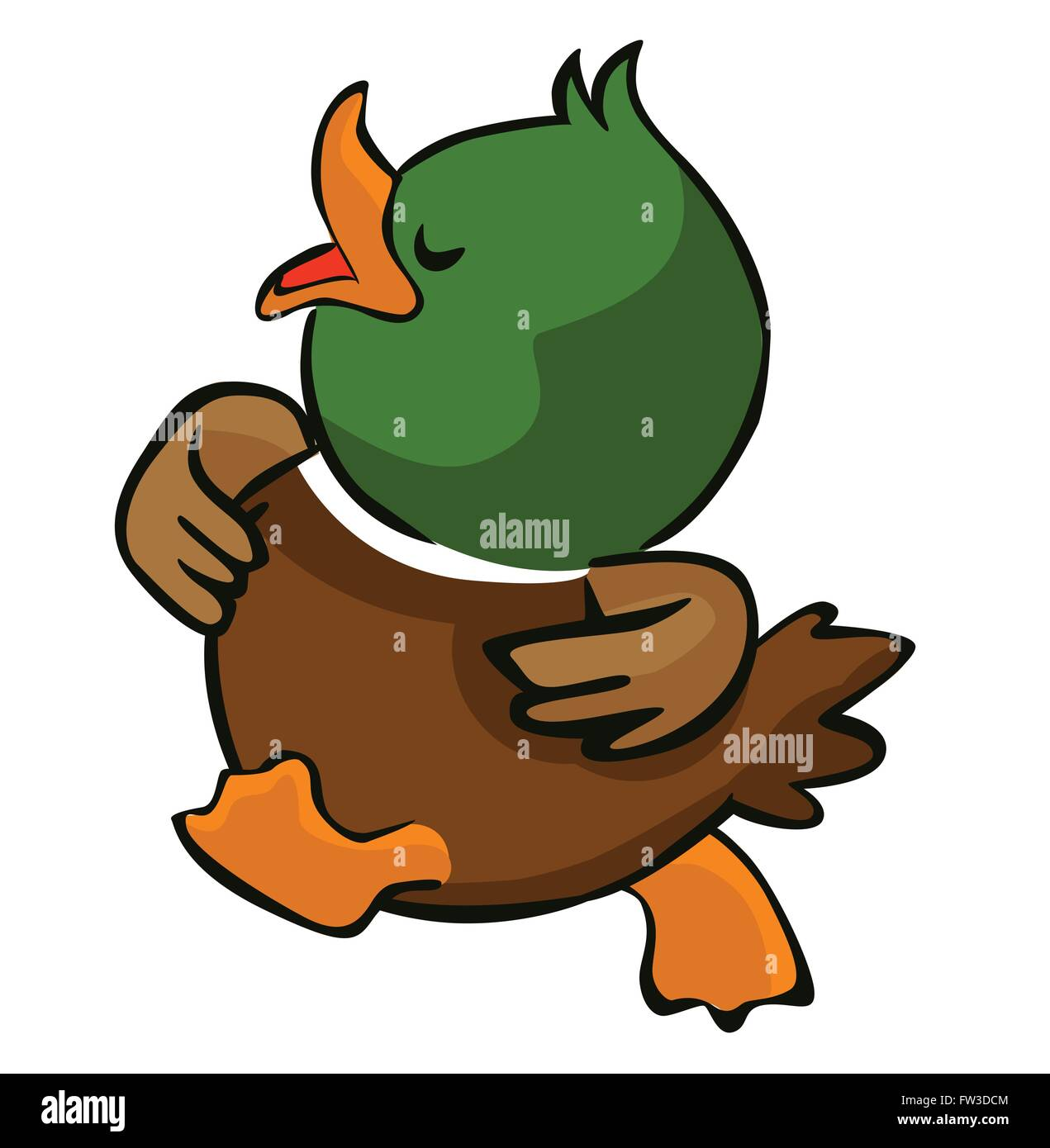 Walking duck - Stock Vector