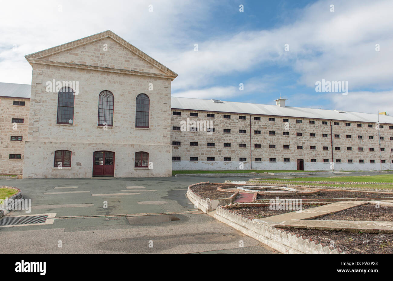 Fremantle prison near Perth Western Australia, built by convicts in the 1850s - Stock Image