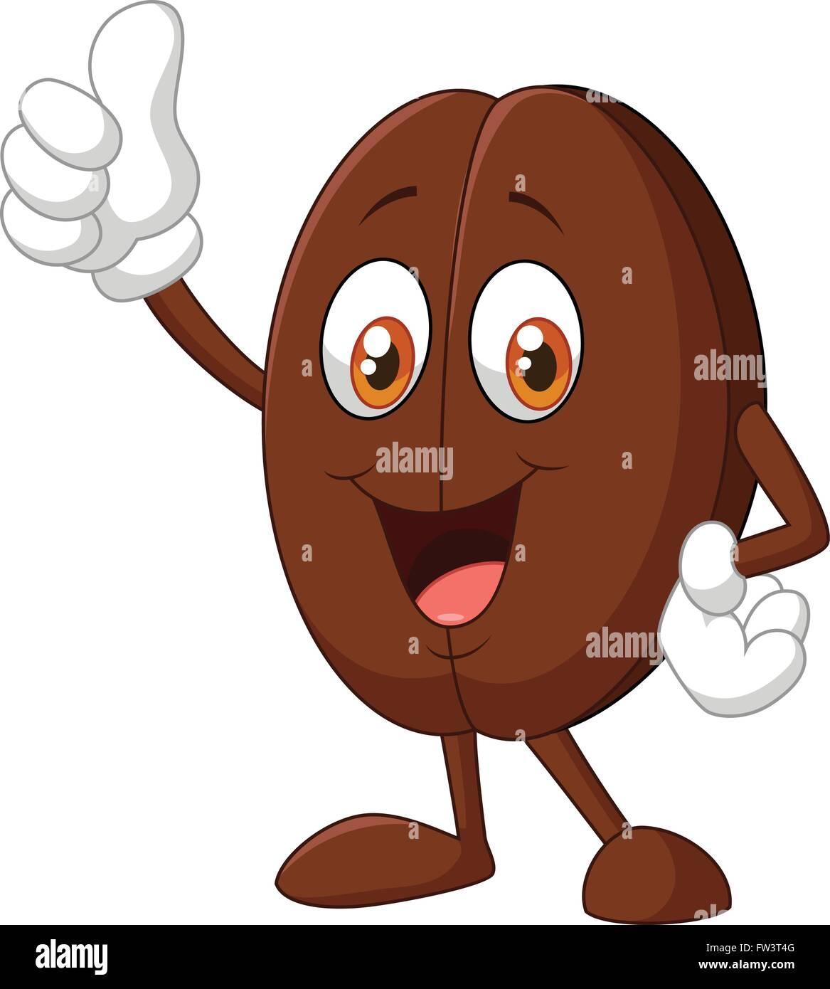 Coffee Bean Cartoon Character Stock Vector Image Art Alamy