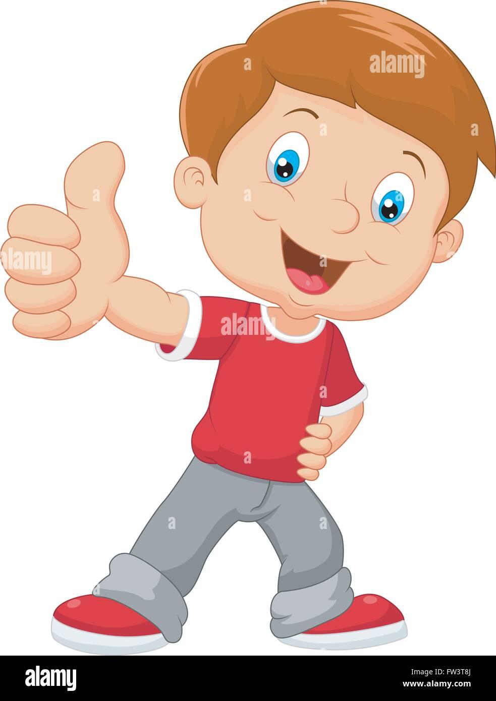 cartoon little boy giving thumbs up stock vector image art alamy https www alamy com stock photo cartoon little boy giving thumbs up 101503154 html