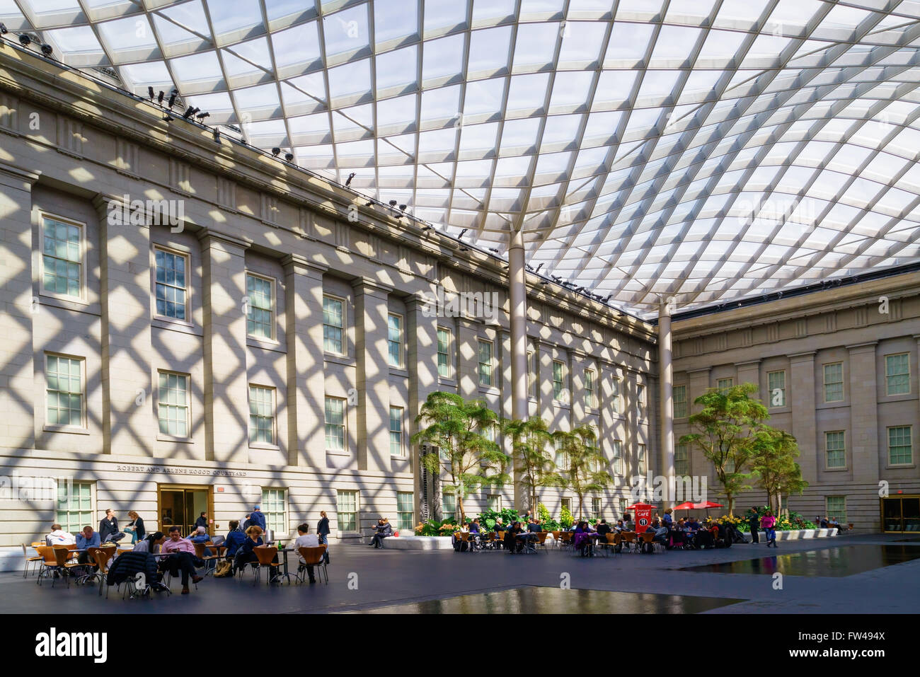 The Glass Covered Courtyard By Norman Foster At The