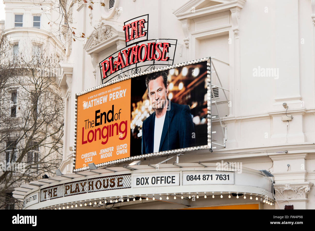 Matt Matthew Perry The End of Longing Playhouse - Stock Image