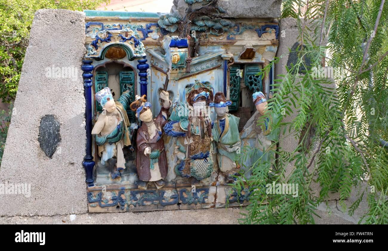 Famous Broken Chinese Statuary - Stock Image
