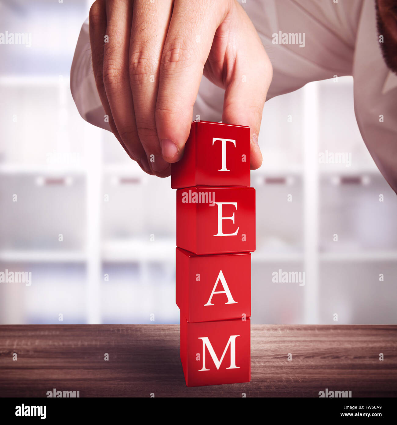Building a team - Stock Image