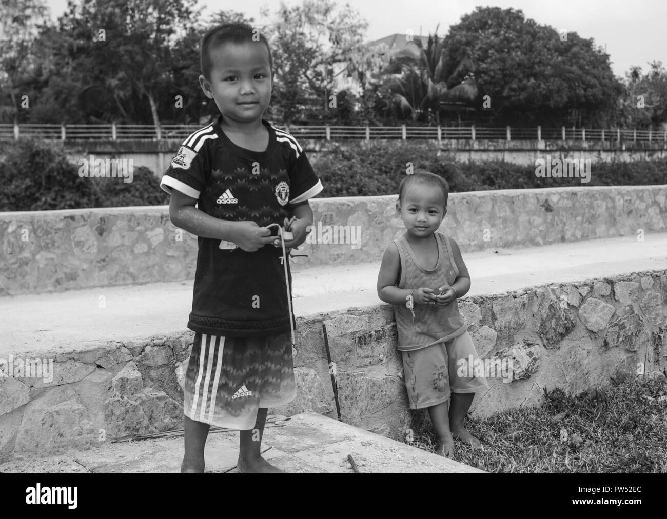 Cambodian kids. - Stock Image