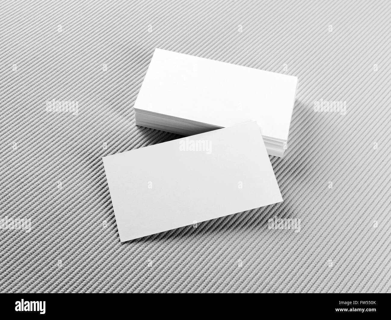 Blank business cards on gray background mockup for branding stock blank business cards on gray background mockup for branding identity stack of blank business cards template for id reheart Gallery
