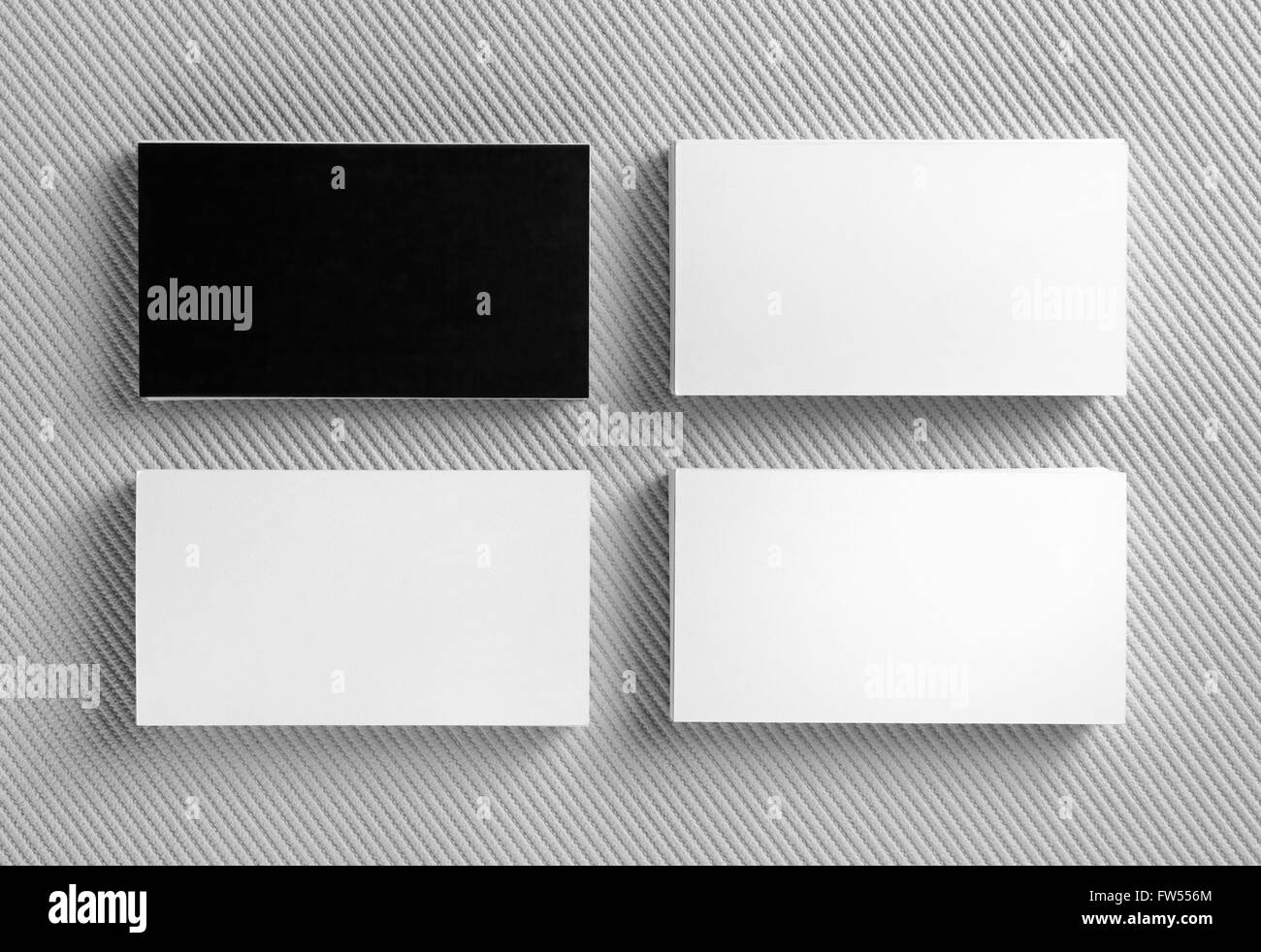 Blank Black And White Business Cards On Gray Background Mockup For Branding Identity Template Graphic Designers Portfolios