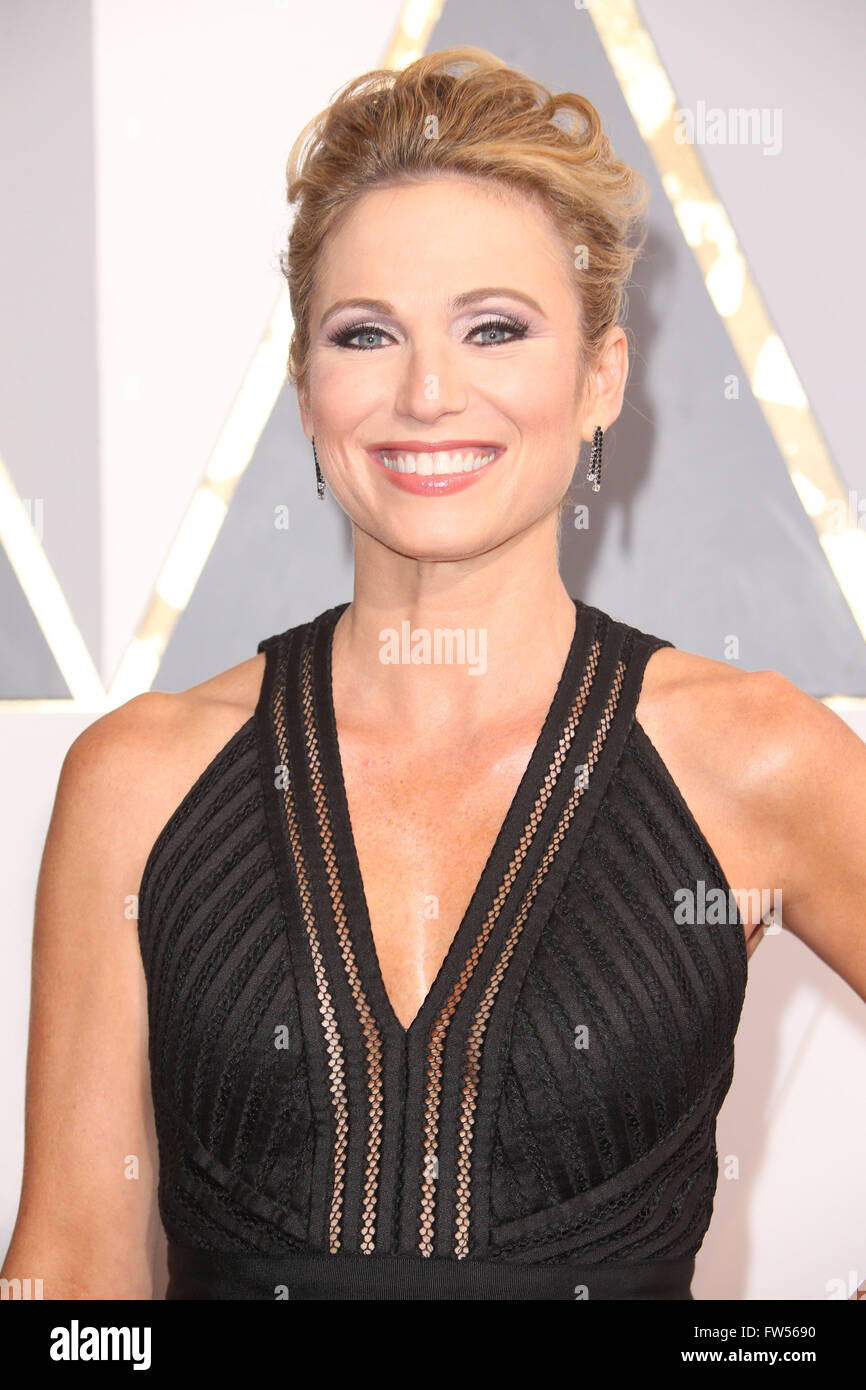 88th Annual Academy Awards at the Dolby Theatre  Featuring: Amy Robach Where: Hollywood, California, United States Stock Photo