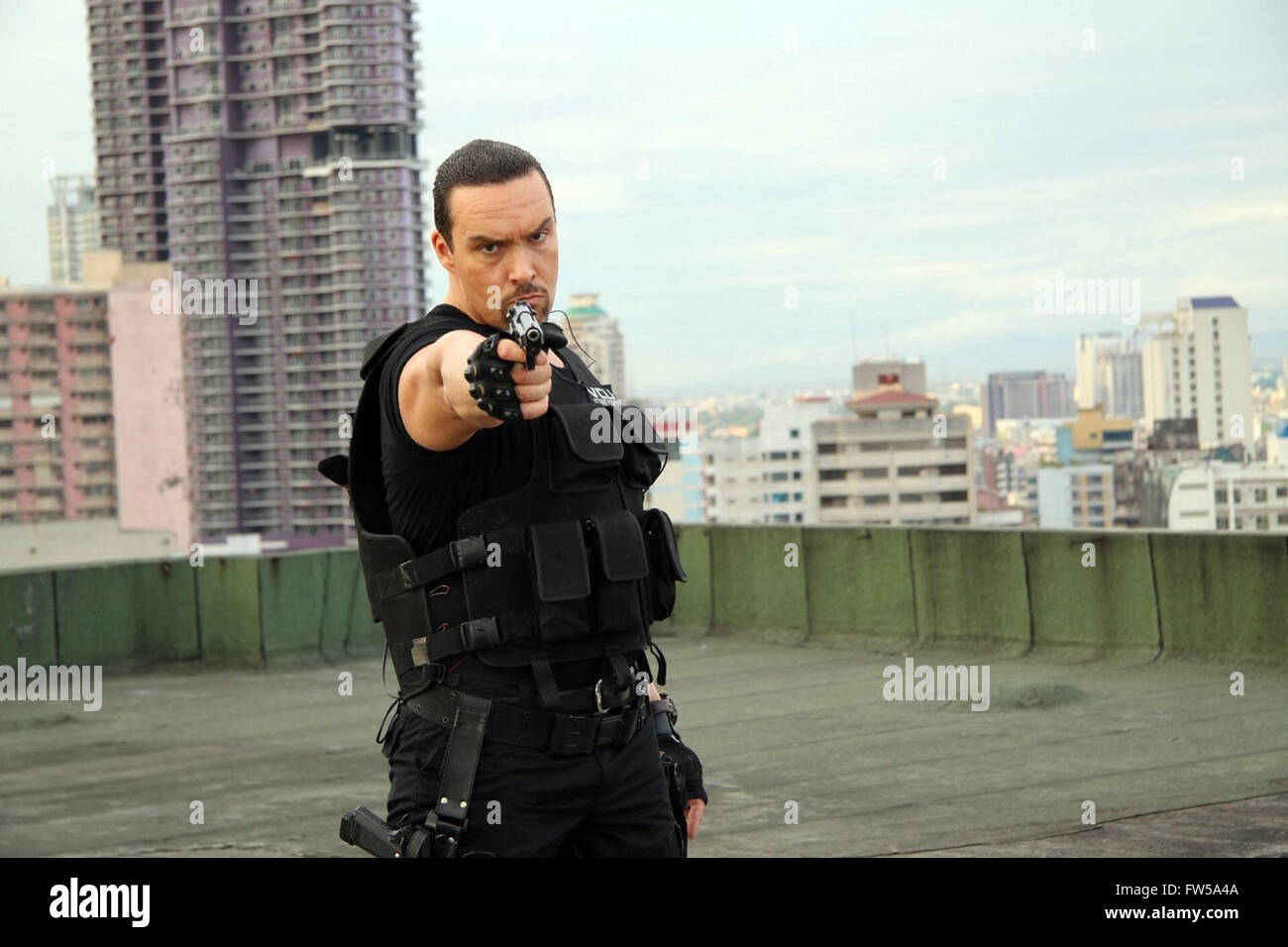 Showdown in Manila is a 2016 martial arts film directed by Mark Dacascos.  This photograph is for editorial use - Stock Image