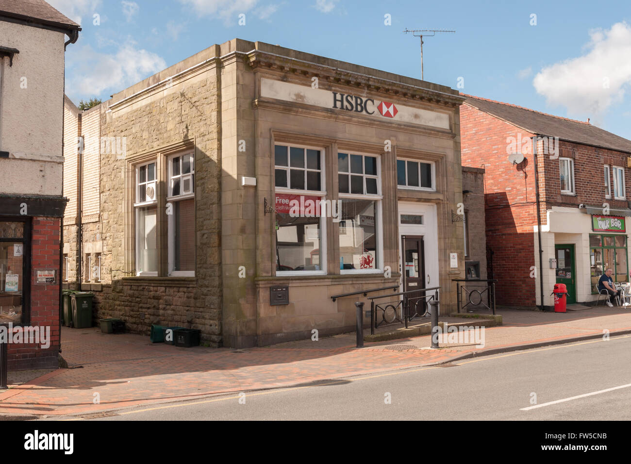Chirk, Wrexham, North East Wales, UK. 31st March, 2016. The final week of the HSBC branch in Chirk North Wales - Stock Image