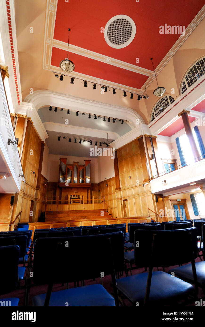 St. Andrew's University, Fife, Younger Hall, music faculty concert hall, interior - Stock Image
