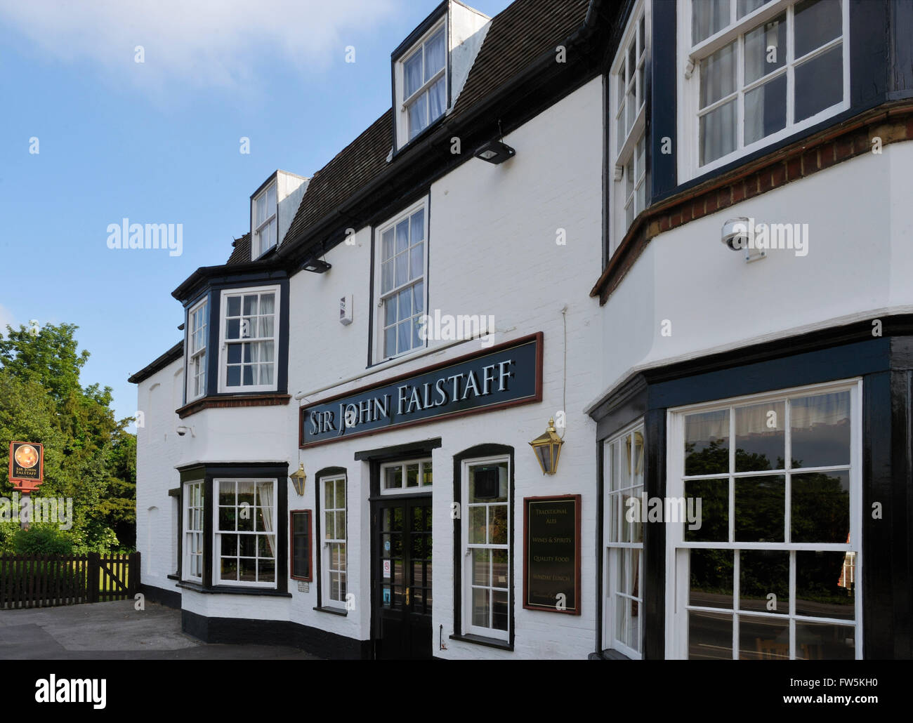 Sir John Falstaff Inn, opposite Charles Dickens's last home at Gad's Hill Place, Higham, Rochester, Kent, - Stock Image