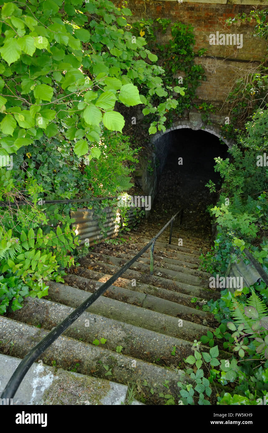 Gad's Hill Place, Higham, above Rochester, Kent: the tunnel under the Gravesend Road, A226, that connected the - Stock Image