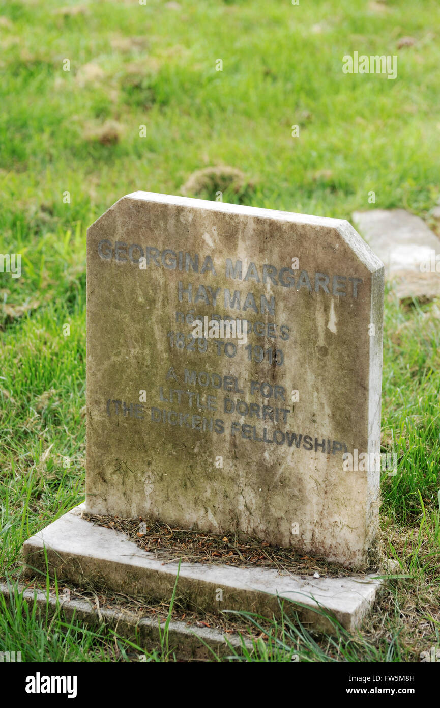 the grave in Highland Rd. Cemetery, Southsea, Portsmouth, of Georgina Margaret Hayman (née Bridges), who claimed - Stock Image