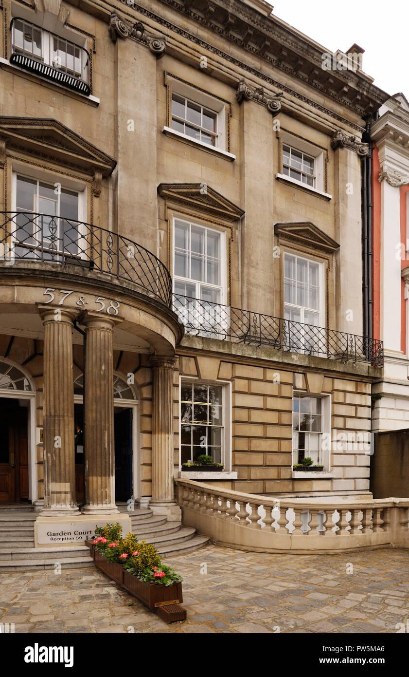 house of John Forster, 57+58 Lincoln's Inn Fields. Biographer and lifetime friend of Charles Dickens. John Forster - Stock Image