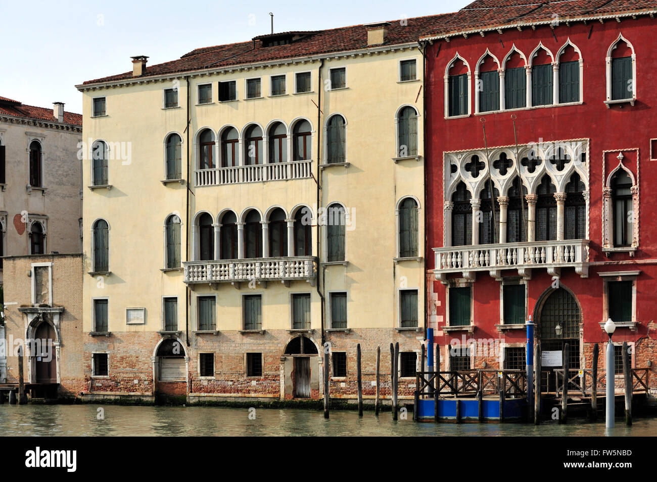 Palazzo Marcello, Venice. The birthplace and family home, on the Grand Canal in the Canareggio district, of Venetian - Stock Image