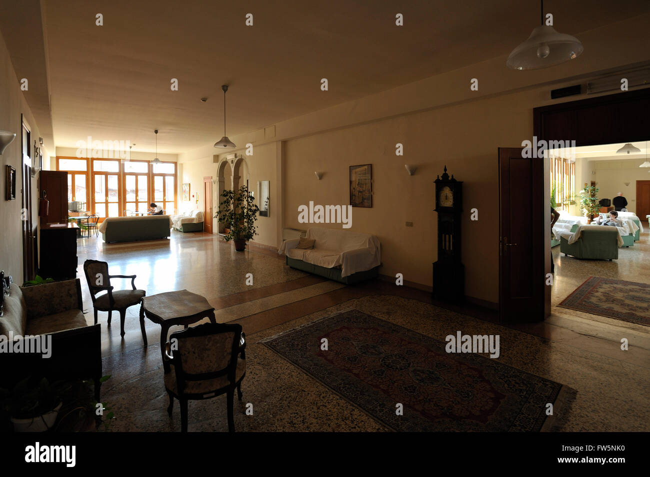 Vivaldi orphanage hallway: the Ospedale della Piet'/ 'hospital' / orphanage at which Venetian composer - Stock Image