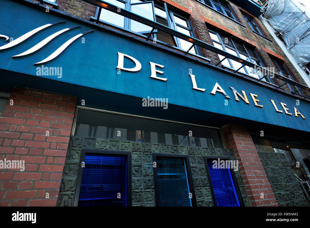 De Lane Lea studio and post production premises, Soho. De Lane Lea Studios is a recording studio, currently based - Stock Image