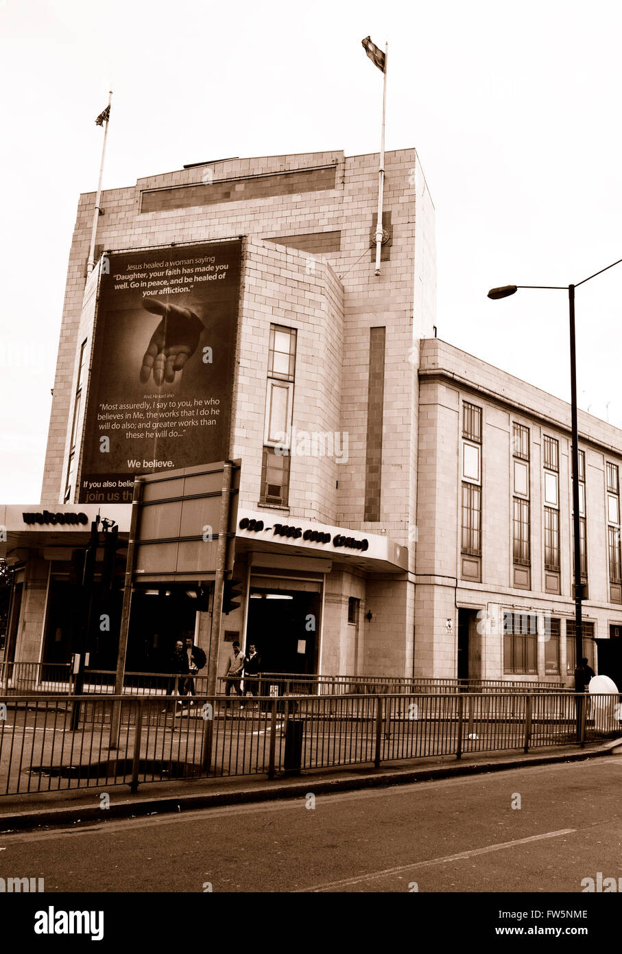 Finsbury Park Astoria, 232 Seven Sisters Rd., now The Universal Church of the Kingdom of God, formed in 1977 in Stock Photo