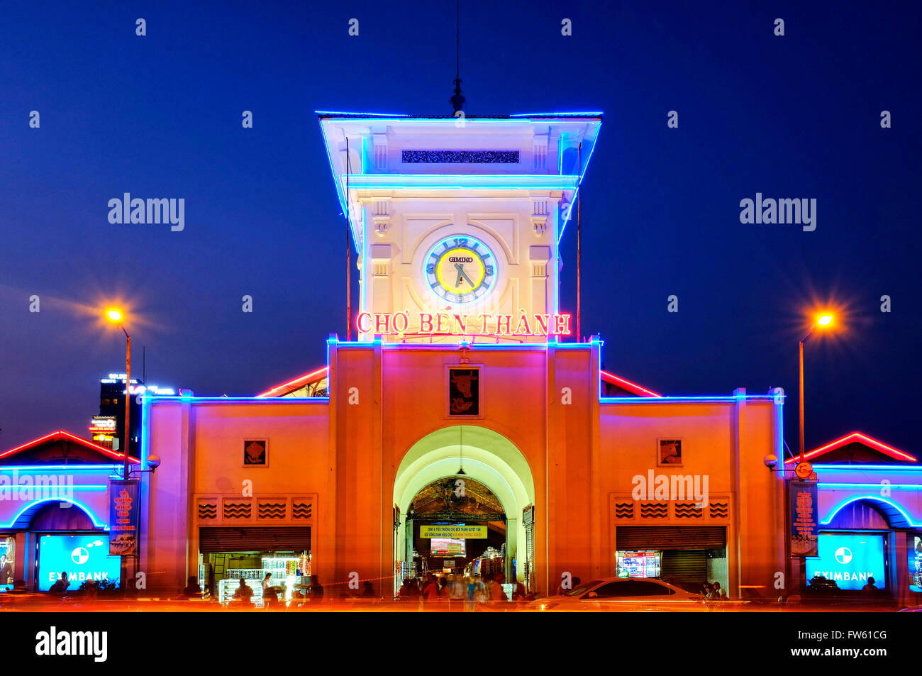 Ben Thanh Market, Ho Chi Minh City, Vietnam - Stock Image