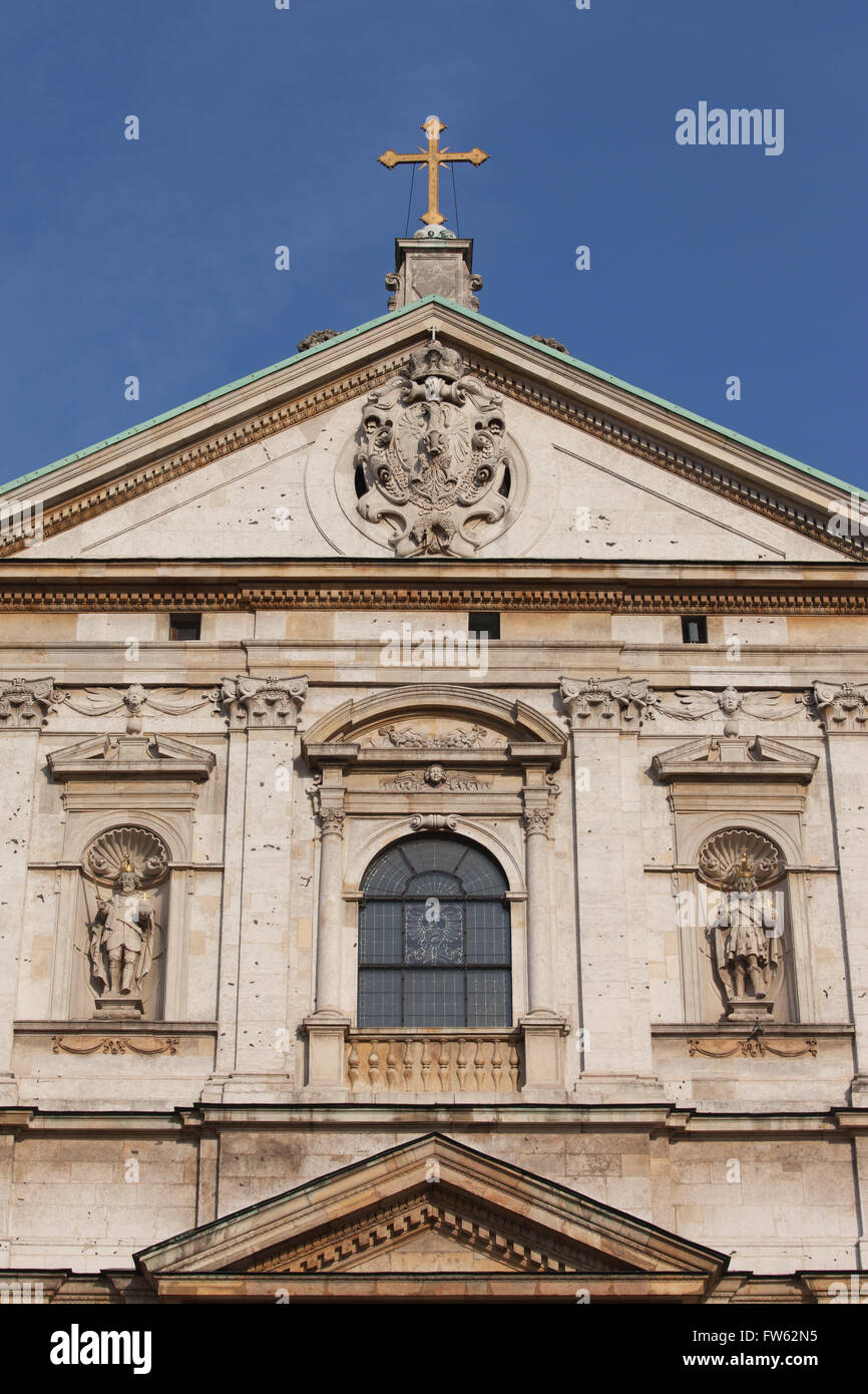 Poland, city of Krakow (Cracow), Old Town, Church of Saint Peter and Paul architectural details, Baroque architecture - Stock Image