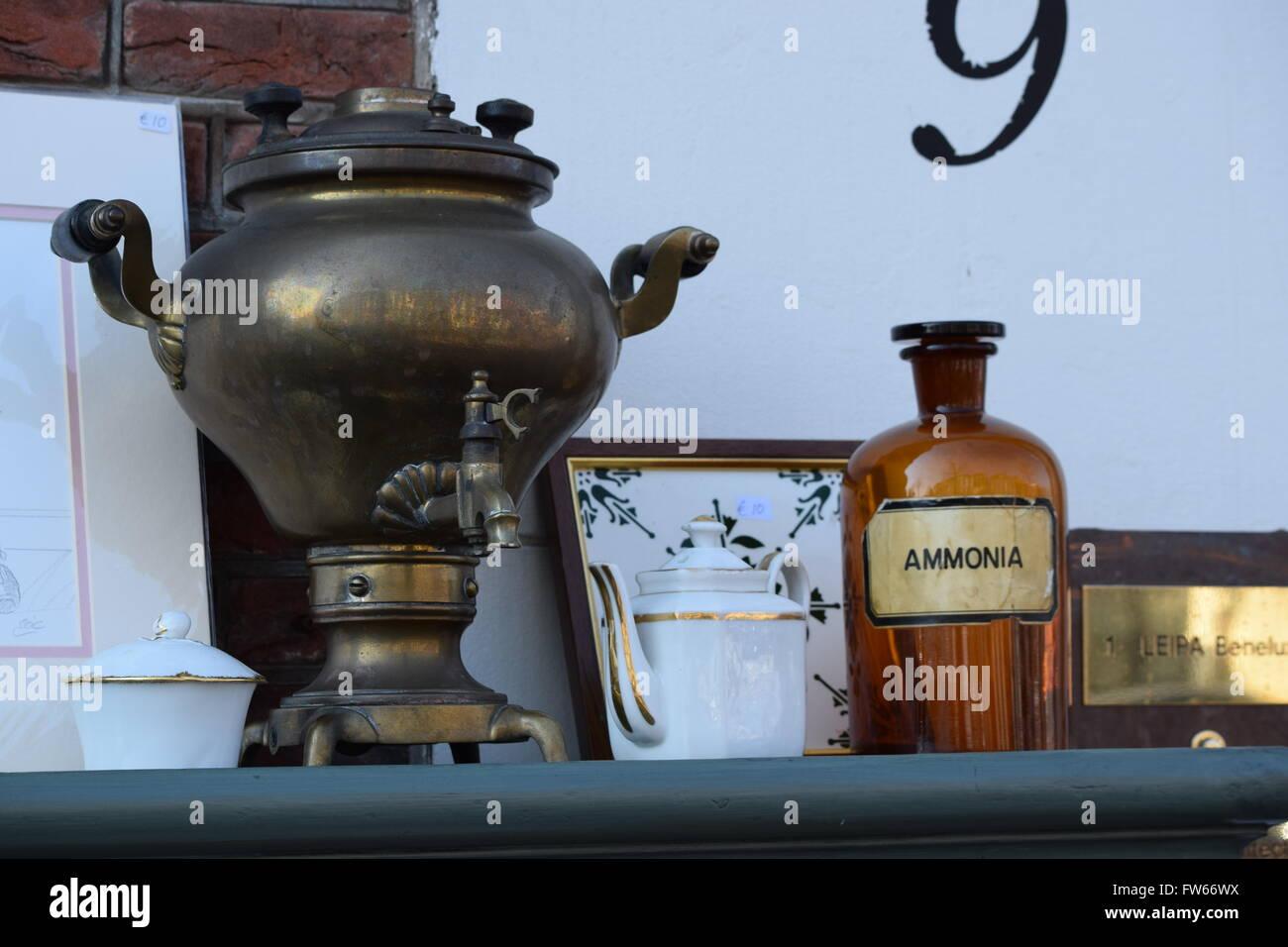 Russian Samovar. Flea Market. - Stock Image