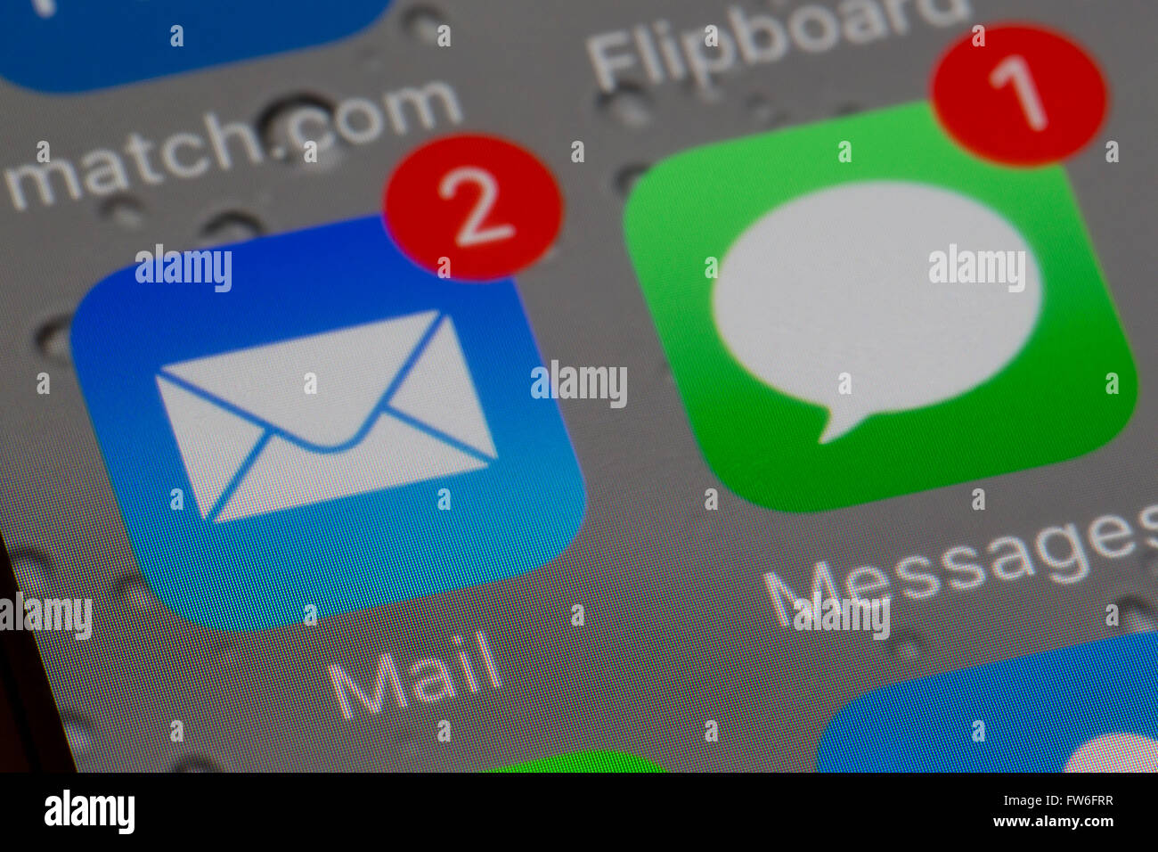 email and text message apps - Stock Image