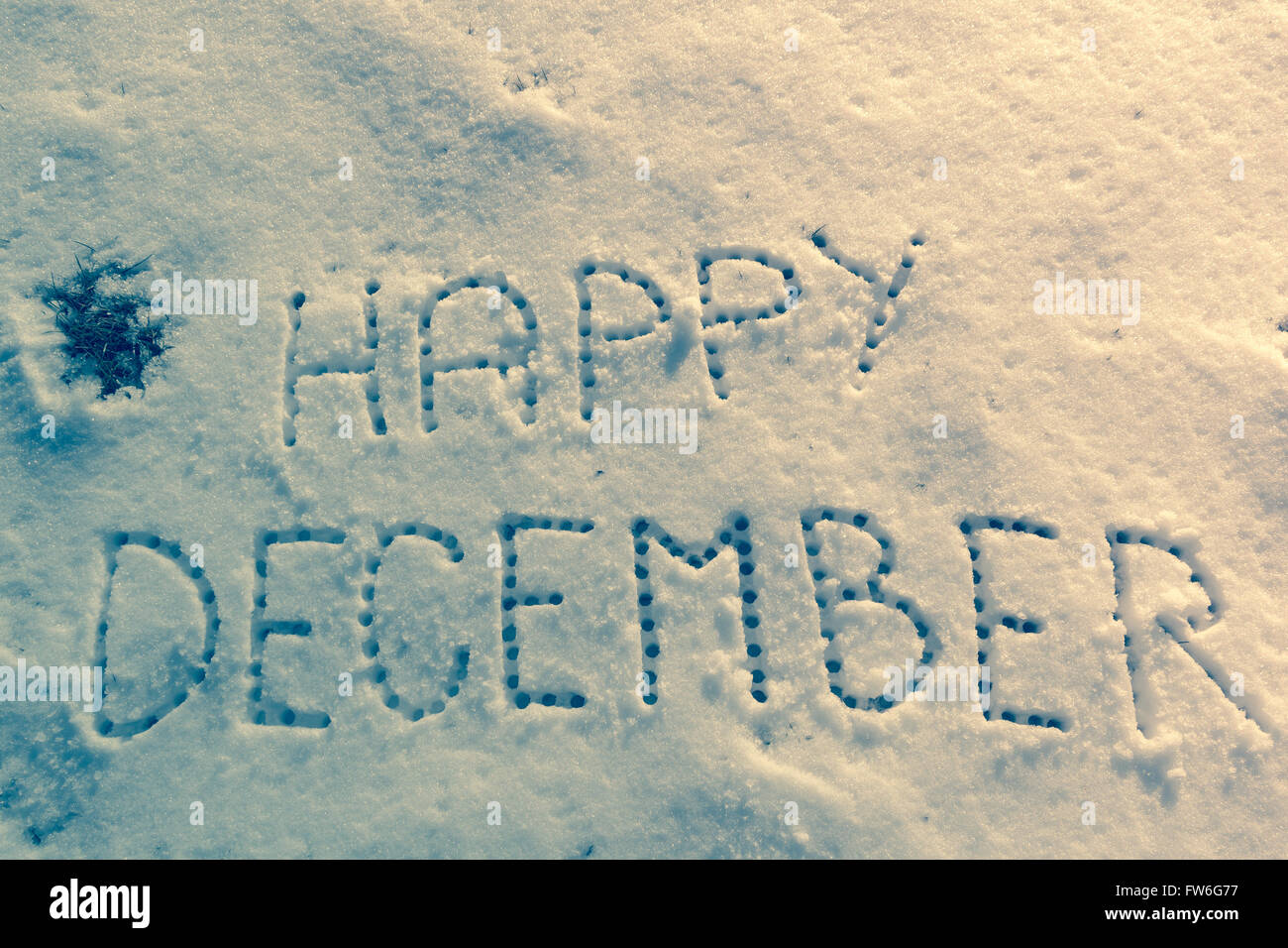 Written Words Happy December On A Snow Field Stock Photo 101562699