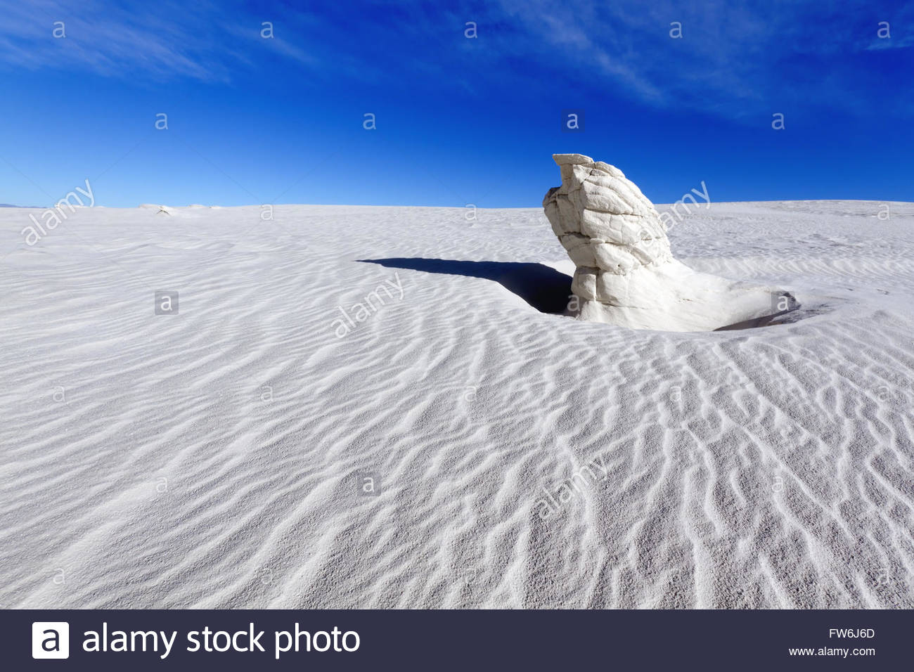 Gypsum Pinnacle, White Sands National Monument, New Mexico - Stock Image