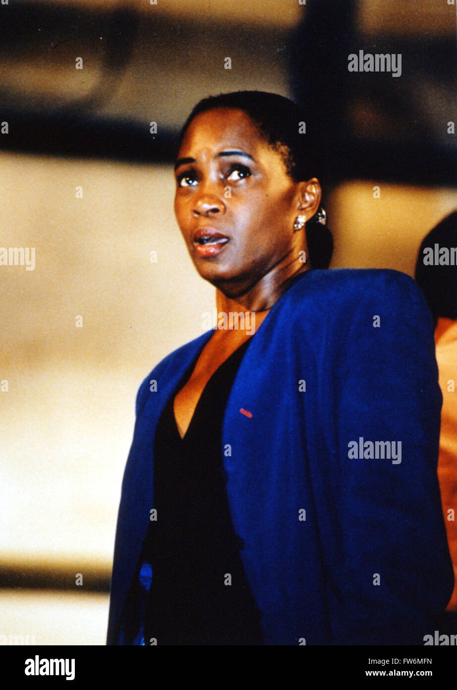 Barbara Hendricks singing. American soprano b.1948 - Stock Image