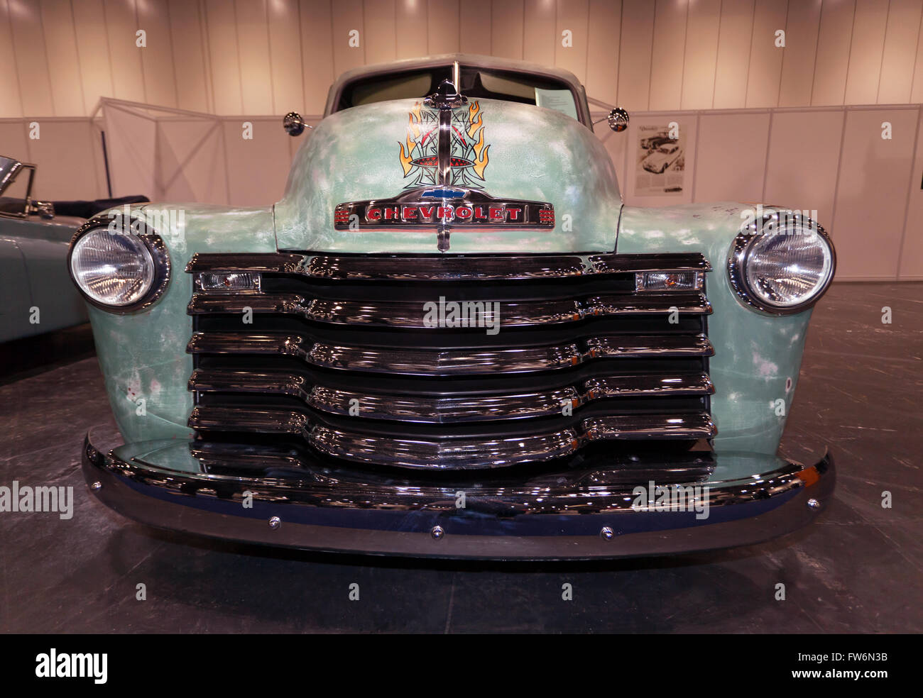 Hot Rod Radiator Grill Stock Photos 1949 Chevy Pickup Front View Of A Custom Built Based On Vintage Chevrolet Truck