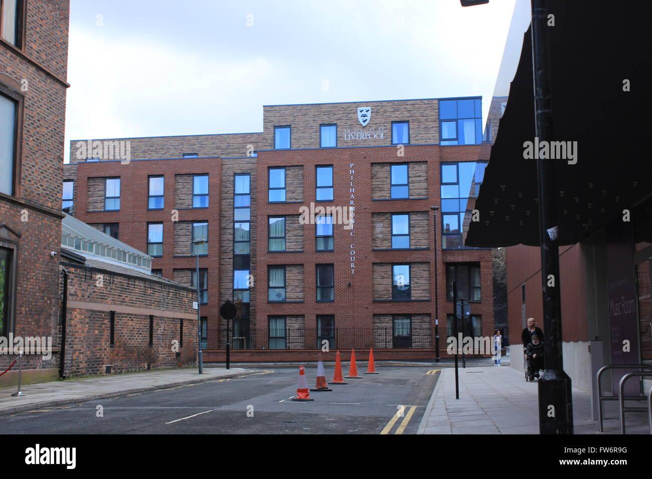 University of Liverpool Student accommodation - Philharmonic Court - Stock Image