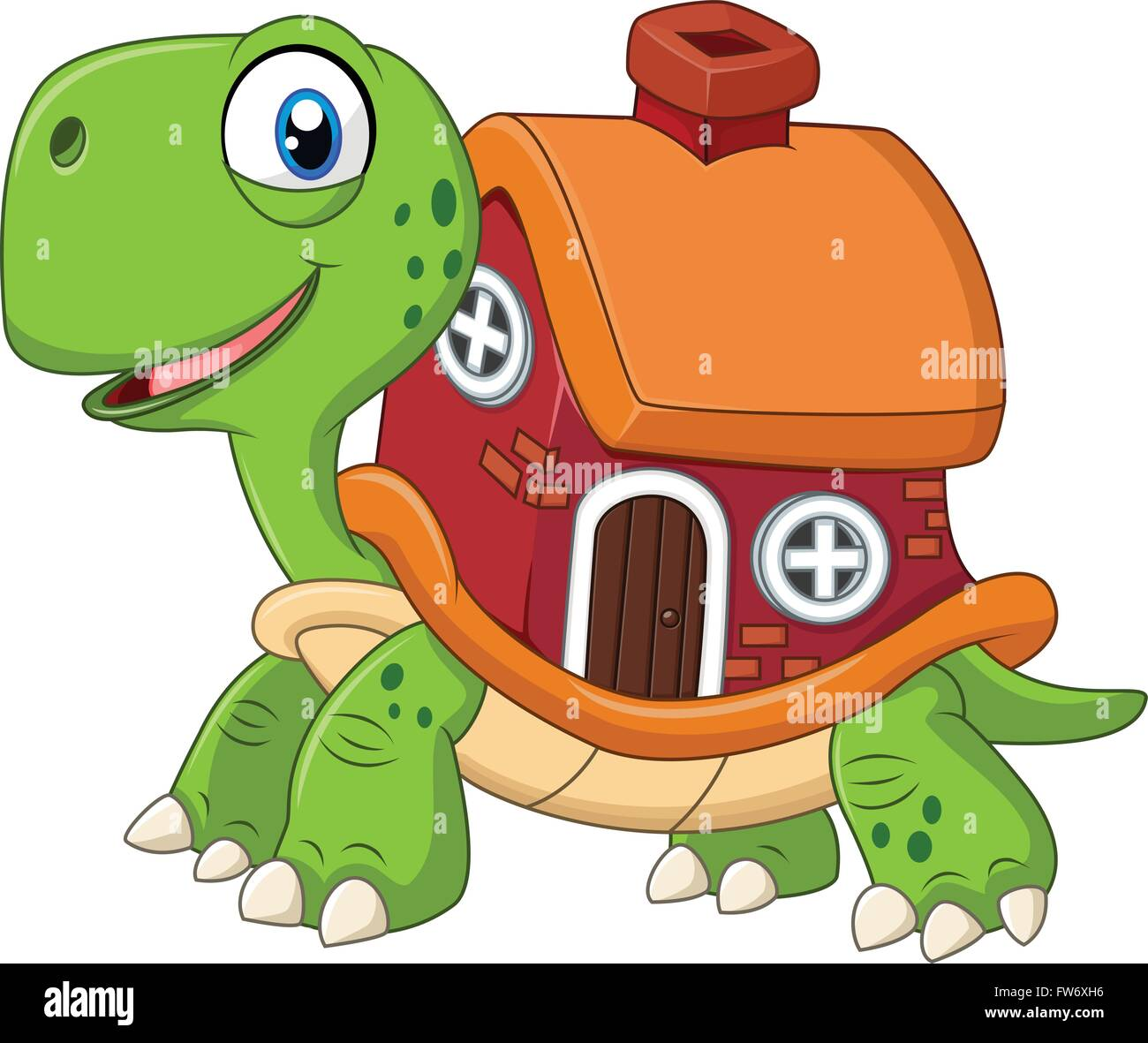 Cartoon Funny Turtle Shell House High Resolution Stock Photography