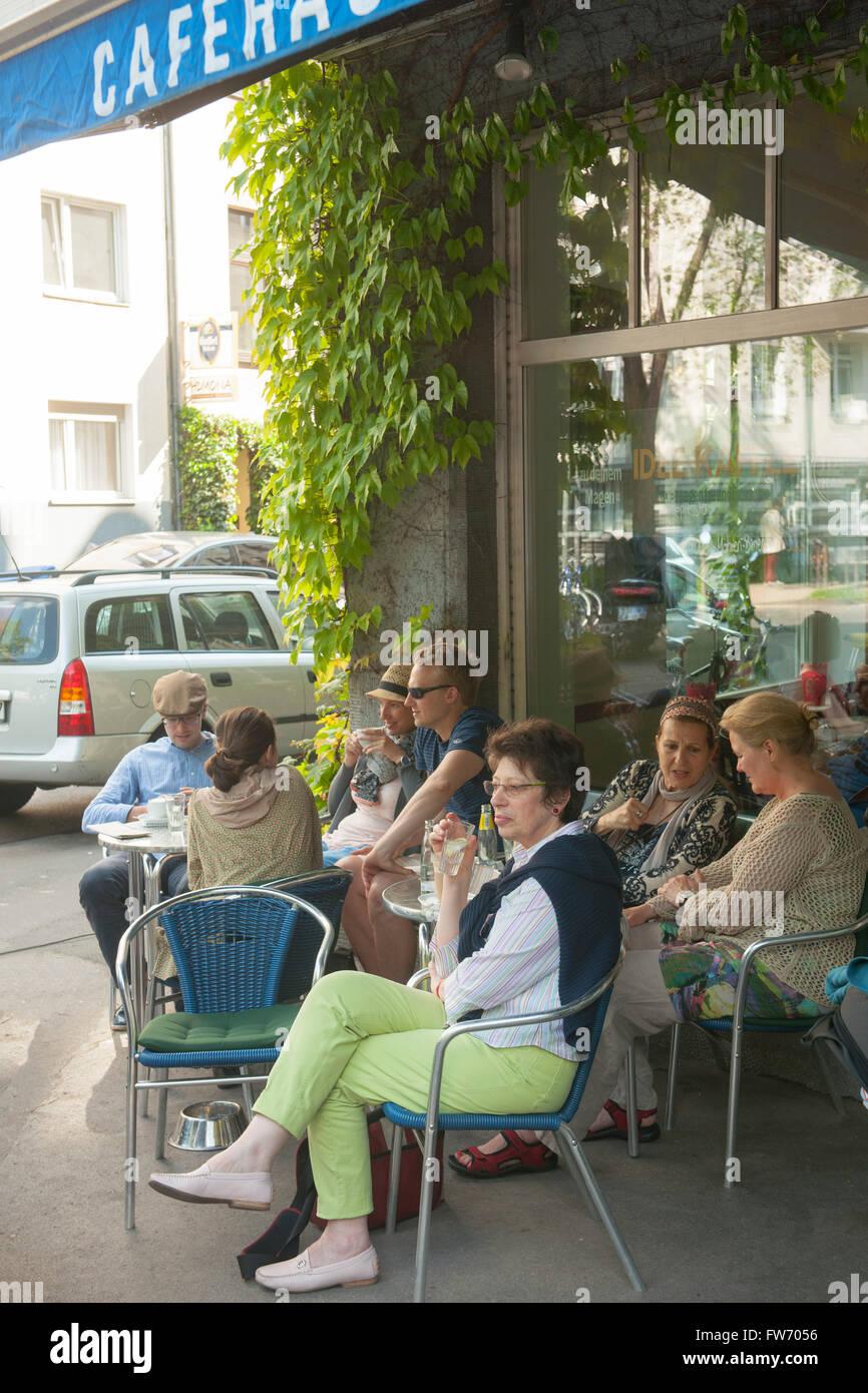 Köln, Neustadt-Süd, Südstadt, Eierplätzchen, Cafehaus Römerpark Stock Photo
