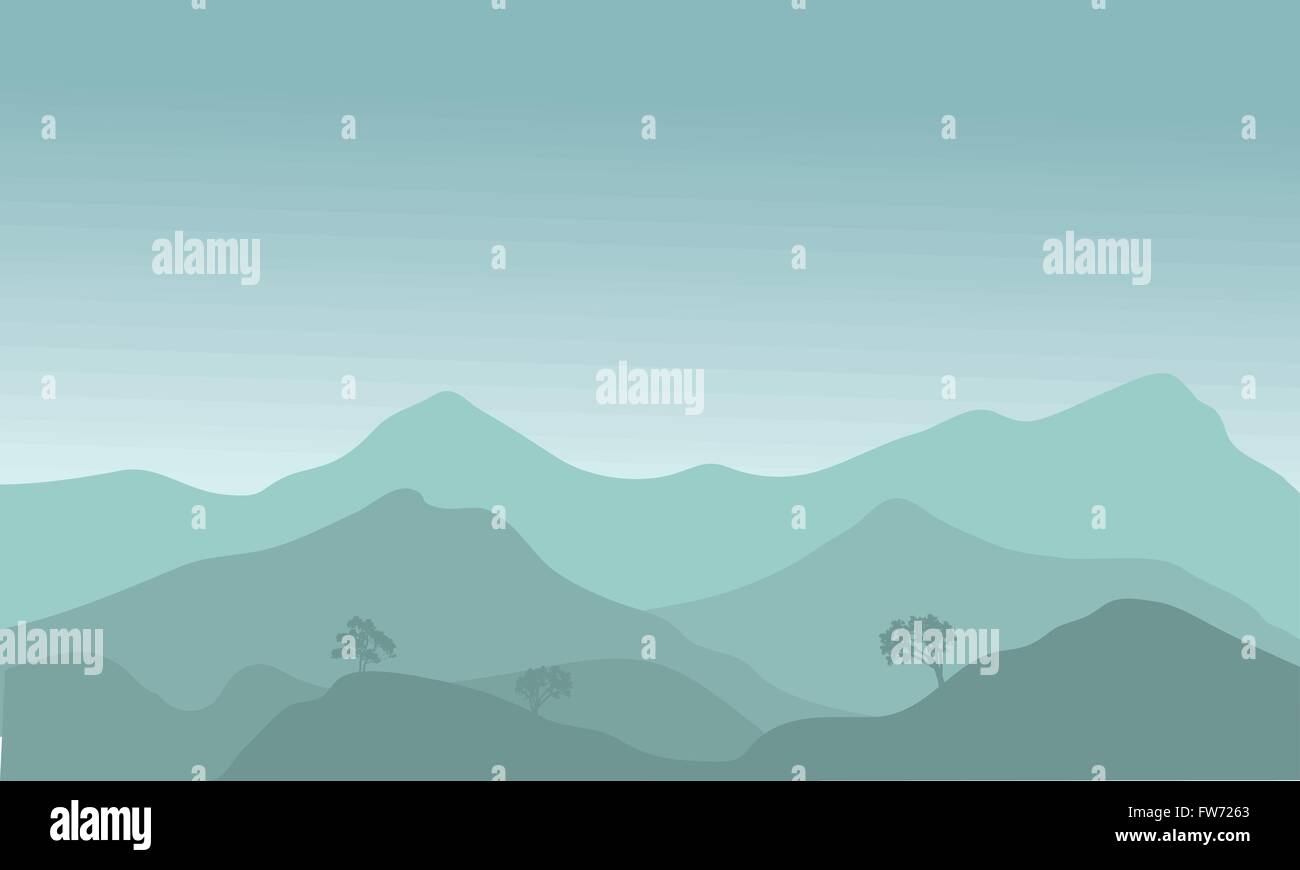 View of the hills Stock Vector