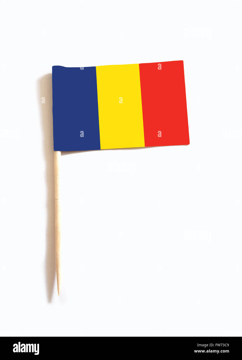 toothpick with the flag of Chad - Stock Image