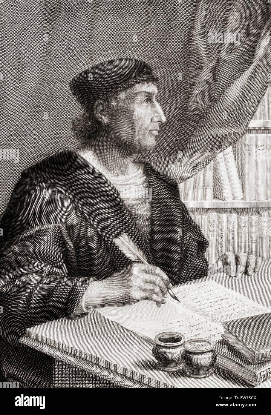 Antonio de Nebrija, 1441-1522.  Spanish scholar, historian, teacher and poet.  Amongst his achievements was writing Stock Photo