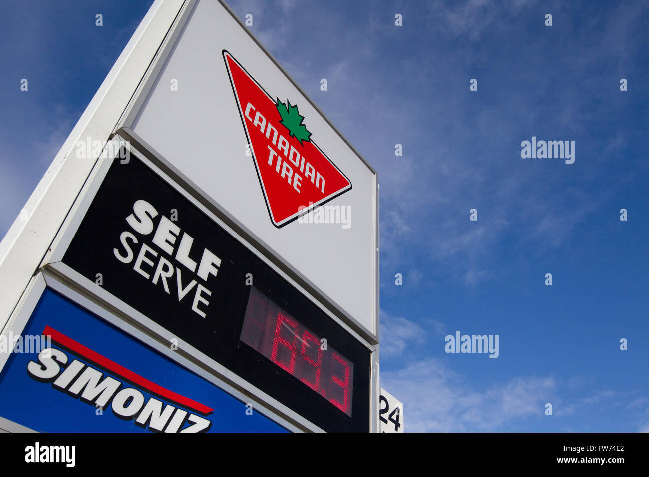 Gas Prices At A Canadian Tire In Kingston Ont On Wednesday Jan