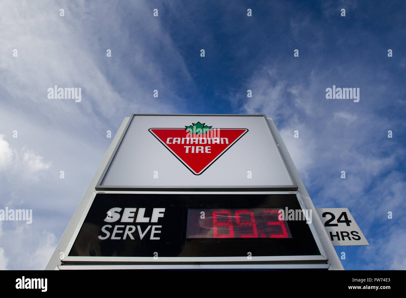 Gas prices at a Canadian Tire in Kingston, Ont , on