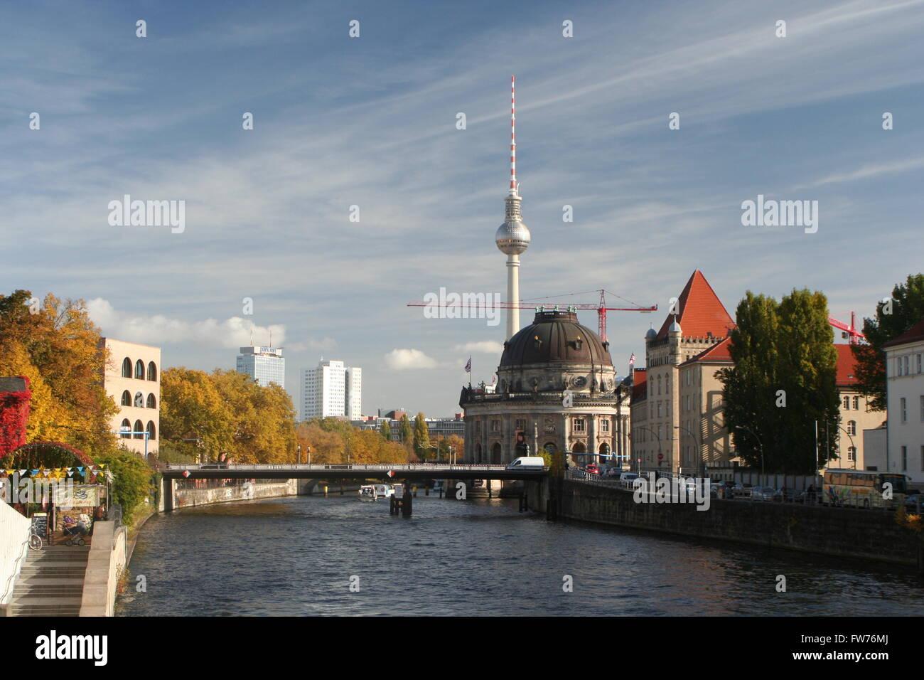 Berlin Cityscape Stock Photo