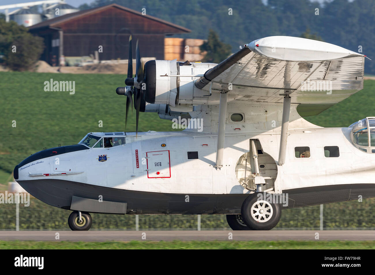 World War II era Consolidated PBY-5A Catalina Flying Boat N9767. The Catalina was maritime patrol aircraft. - Stock Image